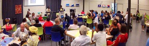 Keti koti Tilburg dialoogtafel in 2018. Foto alle rechten voorbehouden Stichting Comité 30 juni - 1 juli Tilburg
